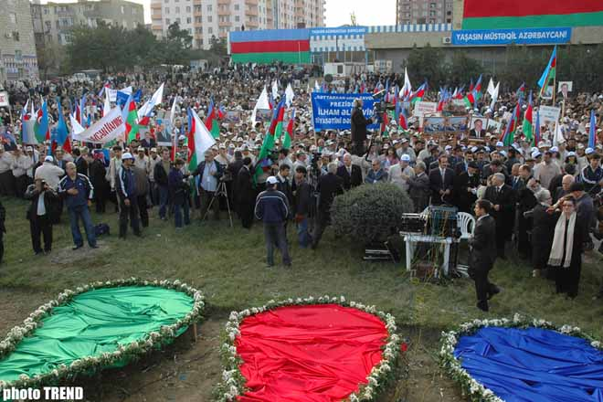 New Azerbaijan Party held rally-concert at Galaba square - Gallery Image