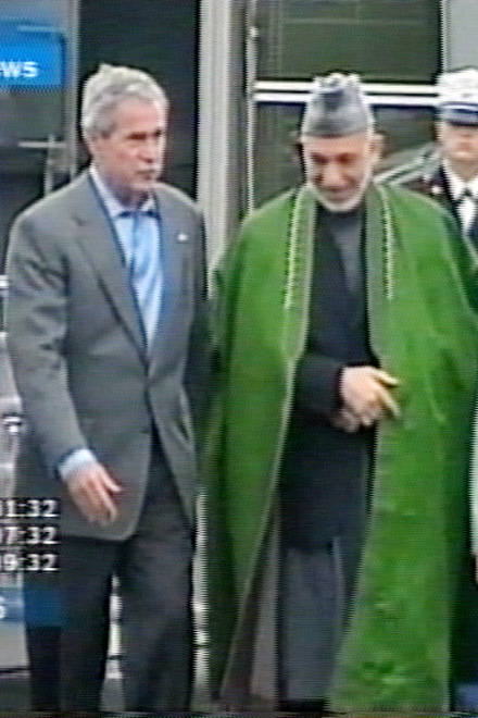 Bush, Karzai discuss Afghan security, Qaeda threat (video) - Gallery Image