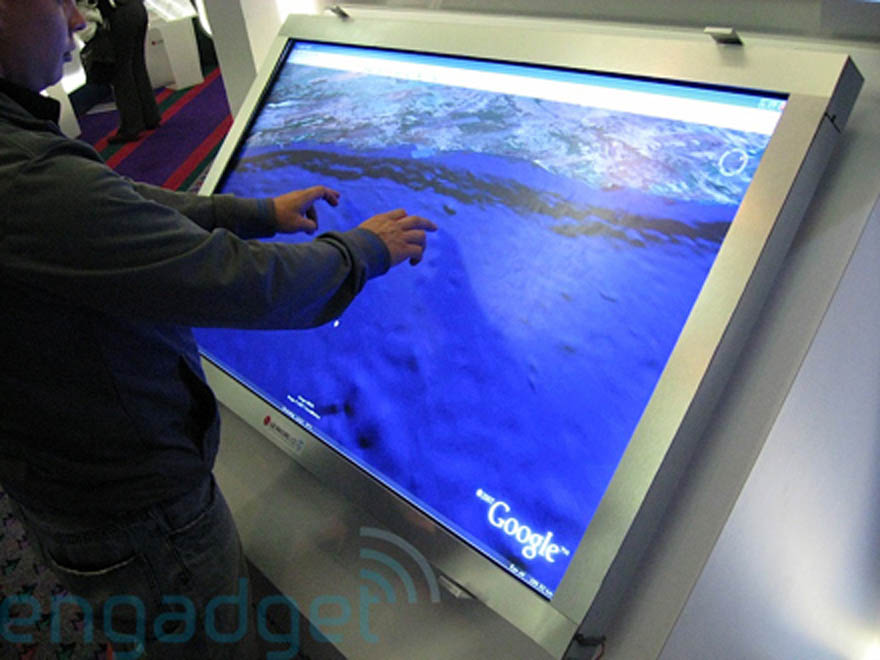 Hands-on / video with the LG.Philips massive 52-inch multi-touch display - Gallery Image
