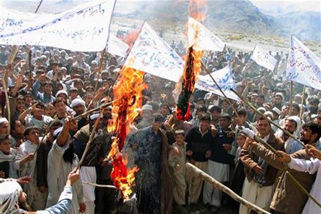 В Афганистане проходят протесты против рисунков в датской прессе