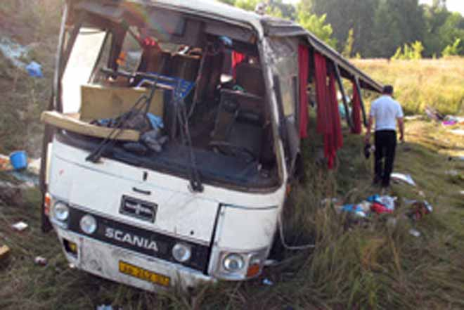Bus collided with a truck in the northern Indian state, killing at least 17