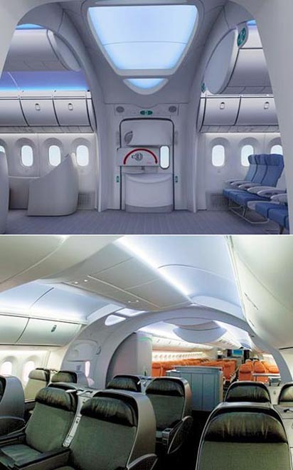 A Look Inside the Completed Boeing 787 Dreamliner