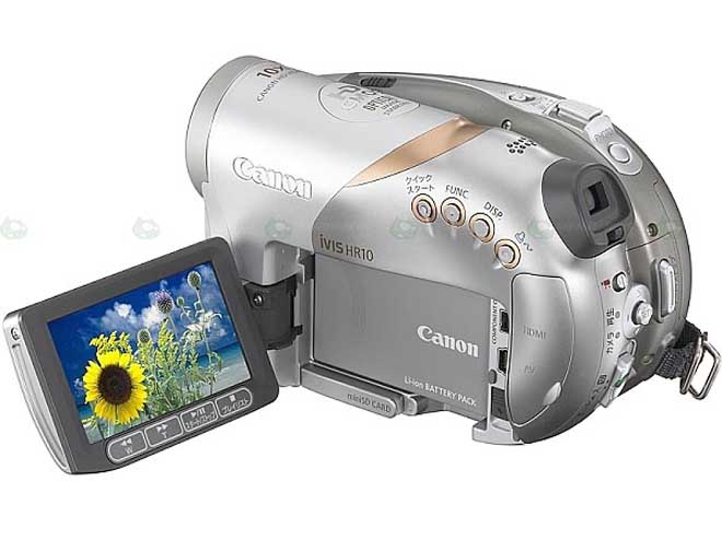 Canon iVIS HR10 digital camcorder records 1080i on DVD