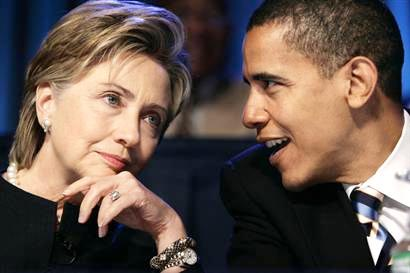 Obama and Clinton meeting in   Washington  DC