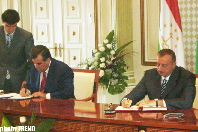 Azərbaycan və Tacikistan birgə sənədlər imzalayıblar