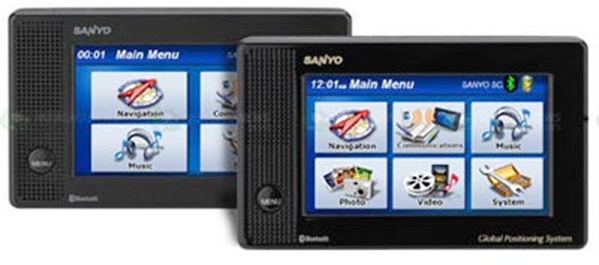 A Couple of Portable GPS Navigators Revealed by Sanyo