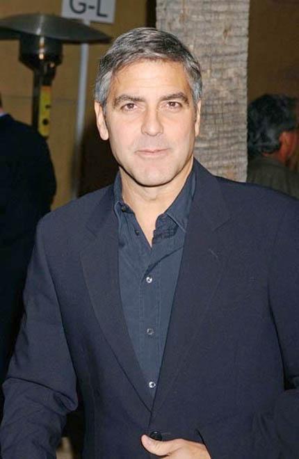 George Clooney's lipo scar?