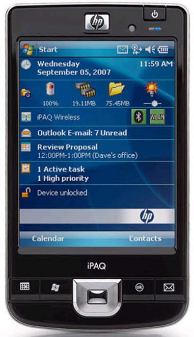 HP iPAQ 210 Enterprise Handheld: продуктивный наладонник