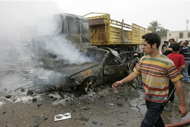 Two killed in bombings in Iraqi holy city