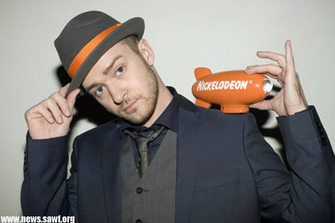 Timberlake named 'Favorite Male Singer' at Nickelodeon Kids' Choice Awards