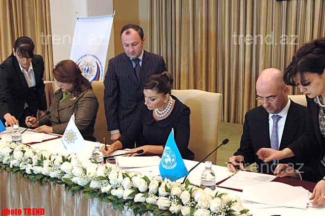 Heydar Aliyev Foundation to jointly with UNPF Carry Out a Project of Fight against Woman Violence - Gallery Image
