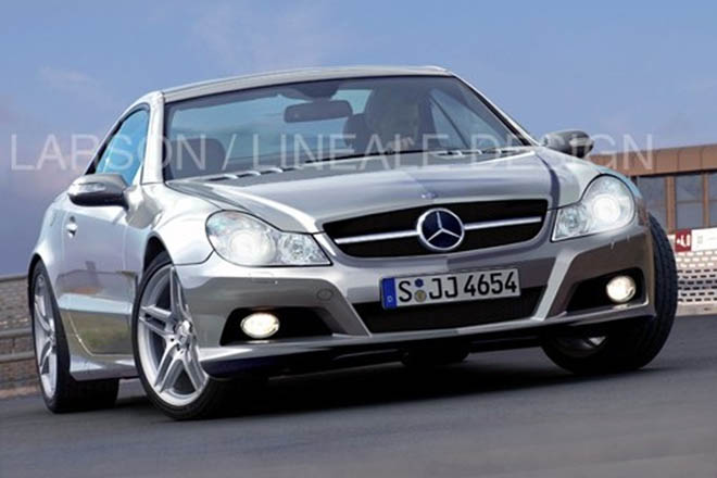 Mercedes SL second facelift spy pics - Gallery Image