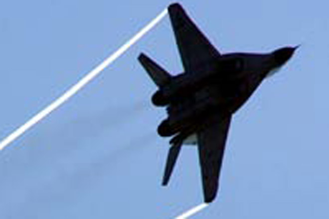 Warplane crashes in central Russia, crew ejects safely
