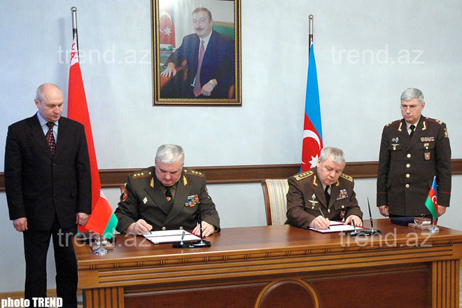 Azerbaijan and Belarus Defense Ministries Sign Bilateral Cooperation Plan