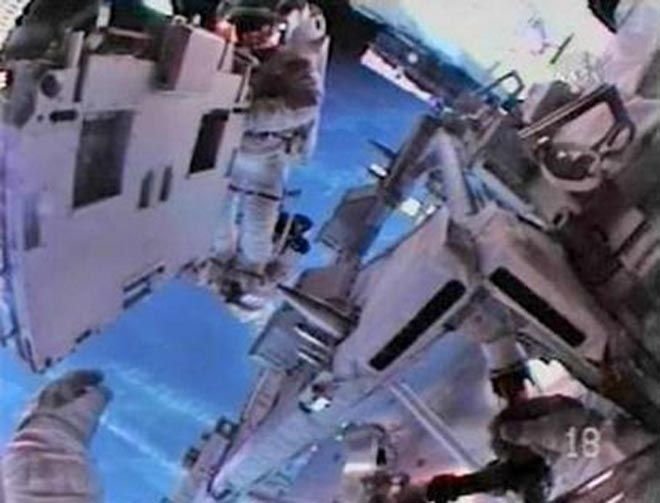Toilet breaks down on crowded int'l space station