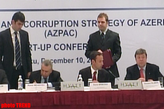 Azerbaijan and Council of  Europe to Implement Support of Strategy in Struggle against Corruption Project