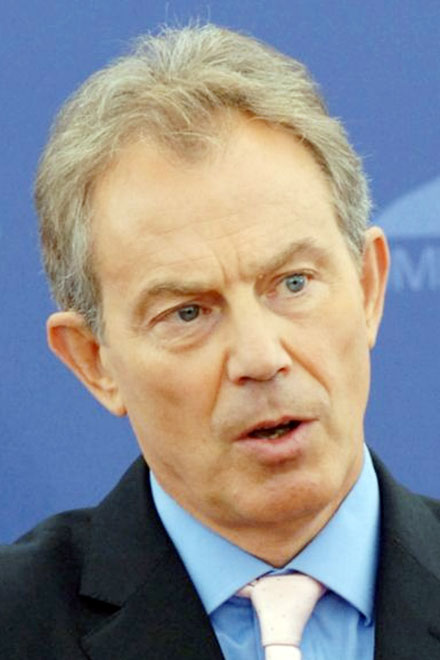 Protester assails Blair in Palestinian mosque