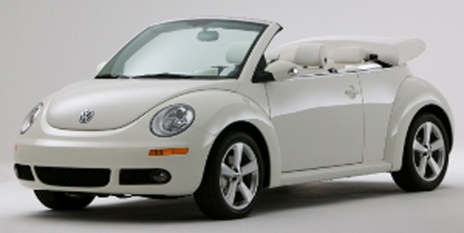 Triple White New Beetle convertible now available