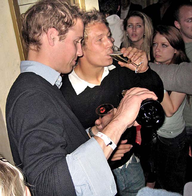 Princes William and Harry help Jonny and his teammates drown sorrows after World Cup