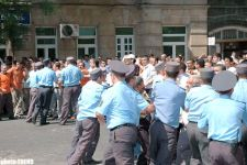 MEMBERS OF MODERN MUSAVAT HOLD A RALLY IN FRONT OF PFAP (R) BUILDING - Gallery Thumbnail