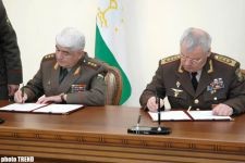 Azerbaijan and Tadjikistan signed agreement on cooperation in military sphere - Gallery Thumbnail