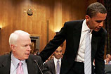 McCain, Obama talk bailout bill fix at the White House