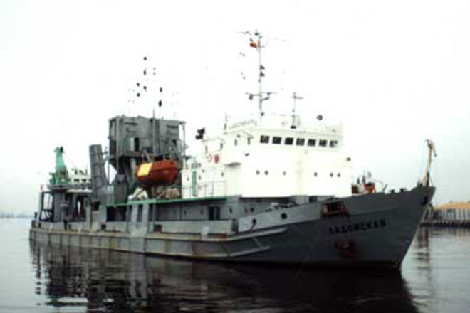 Turkish ship wrecked in Romanian port