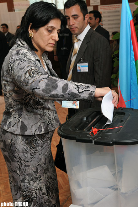 Presidential Elections End in   Azerbaijan