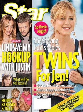 Jennifer Aniston Pregnant...with Twins?