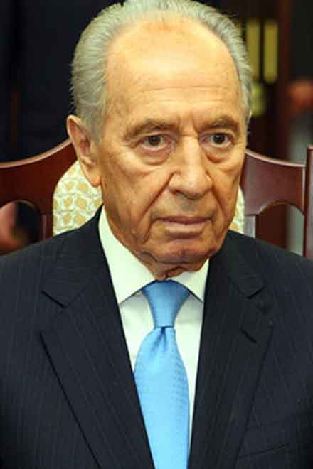 """""""There are still those who wish to annihilate us"""" - Peres"""