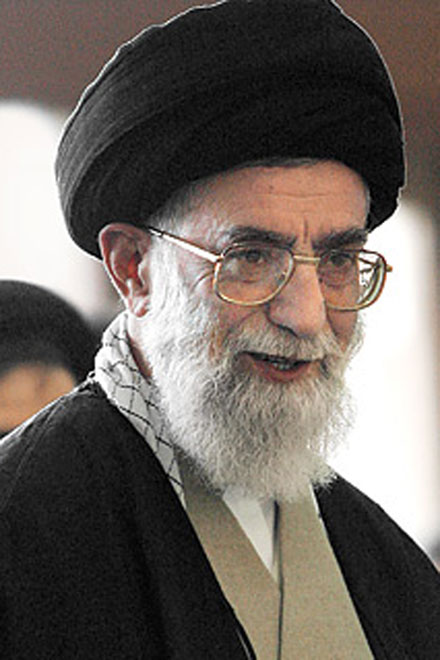 Ayatollah Ali Khamenei told all Iranians to respect Mahmoud Ahmadinejad's victory in a presidential election