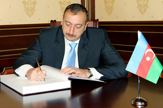 """Azerbaijani President signed the decree to apply the law """"On Making Amendments and Addenda to the Law of the Azerbaijan Republic"""" On joint activities, merger, separation, and the Abolition of the municipalities and the administrative oversight of the municipalities'"""
