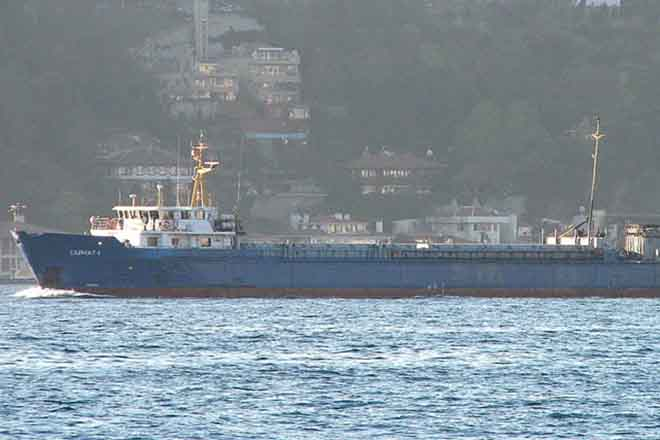Russian ship struggles against sinking in Caspian of Azerbaijan