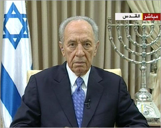 Shimon Peres says Russian, US Presidents responsible for peace