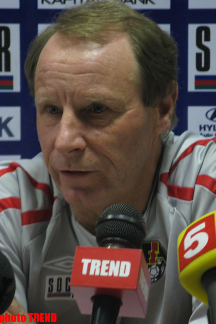 Azerbaijani football squad to play with Russian squad in full measure: head coach