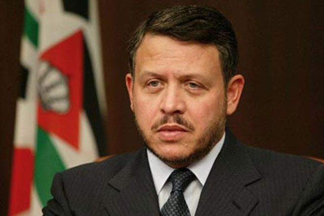 Jordan's king heads to London for talks on Mideast peace