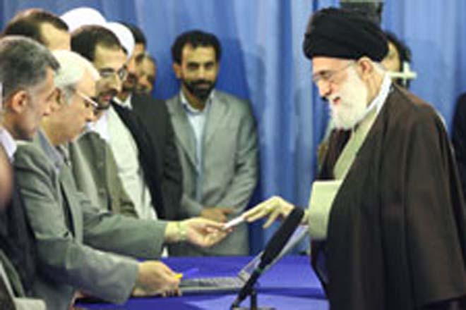 Supreme Leader of Iran votes first in a polling station in Tehran (UPDATE)