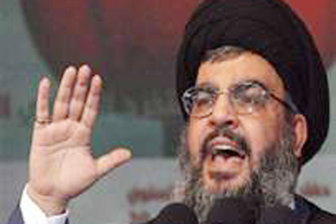 """Nasrallah says negotiations with Israel are """"crazy and futile"""""""