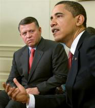 Obama discusses peace in Mideast with Jordan's king