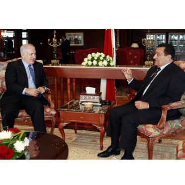 Нетаньяху и Мубарак обсудили возобновление палестино-израильских переговоров