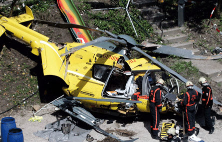 Helicopter accident kills three in Russia