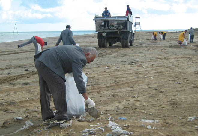 Azerbaijani Ecology and Natural Resources Ministry holds community work day under Caspian Week - Gallery Image