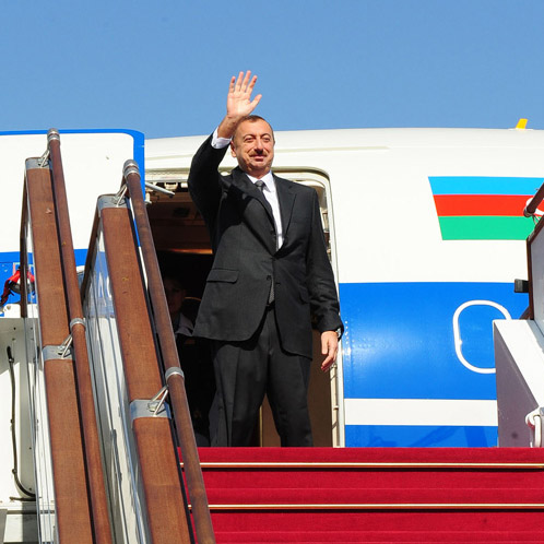 Ilham Aliyev left for a working visit to the Russian Federation