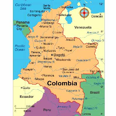 Explosion kills 2, injures 13 in Colombia