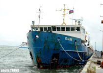 Russian Fili ship suffered disaster in Caspian Sea taken to Baku (Photosession ) - Gallery Thumbnail