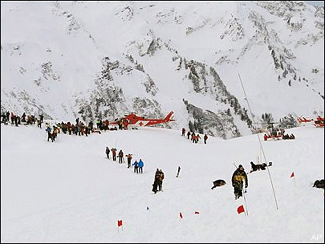 Three missing discovered dead after weekend Swiss avalanche
