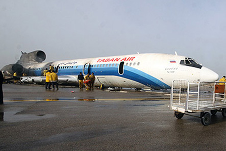 Iranian plane catches fire on landing, 46 injured (UPDATE-2)