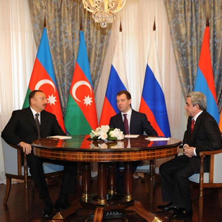Azerbaijani, Russian and Armenian Presidents' meeting begins in Kazan