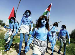 Watch: Avatars against the wall in Bil'in