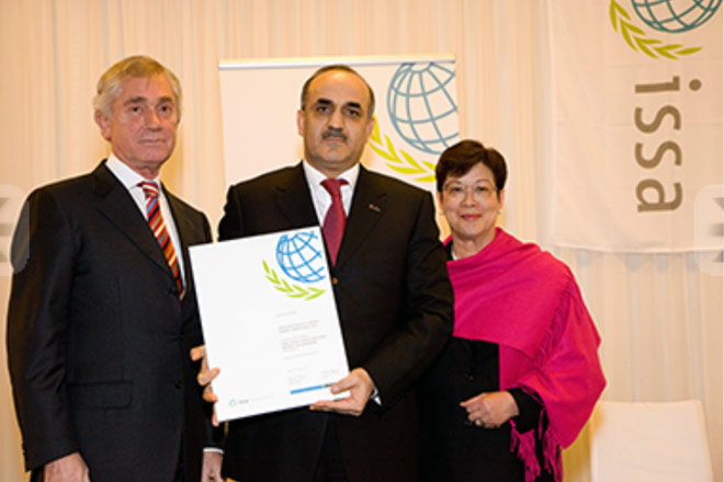 Azerbaijan's pension-insurance system awarded with international premium